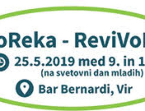 Pridružili se bomo javnemu dogodku EkoReka ob Kamniški Bistrici, 25.05.2019