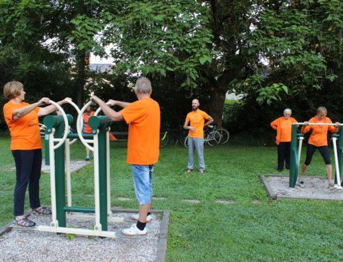 Začenjamo s prikazom vaj na zunanjih fitnes napravah v Ljubljani (7.-11.9.2020)