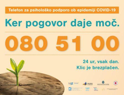 Številka telefona za psihološko podporo 080 51 00